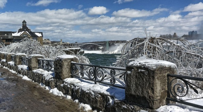 Winter scenes at Niagara Falls