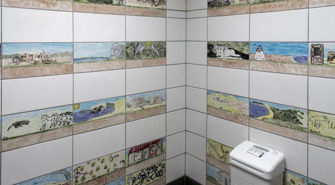 Catlins Area School Restroom Art