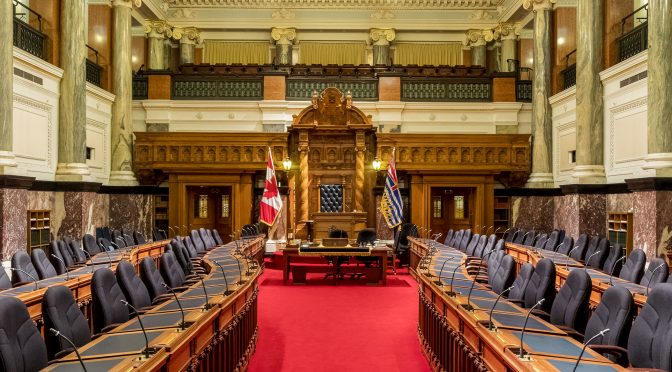 Inside the British Columbia Legislature