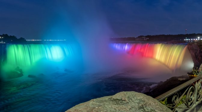 Evening Colours at Niagara Falls